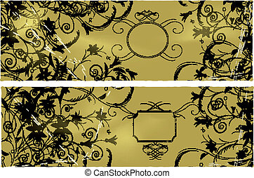 Banners - Floral banners. Vector