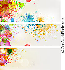 Paints banner Vector