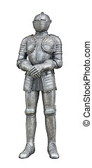 plate armour - rich ornamented historic plate armour in...
