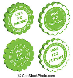 Eco friendly vector stamp or label ecology background...