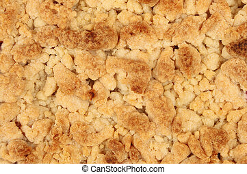Crumble topping as a background and texture