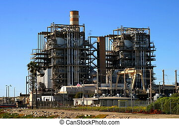 Natural Gas Power Plant - Natural gas power plant near...