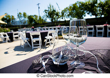 Wine Glass Wedding Reception - Wine glasses are the...