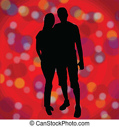 Lovers red background