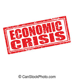 Economic Crisis-stamp - Grunge rubber stamp with text...