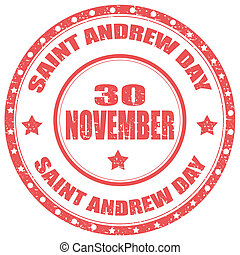 Saint Andrew Day-stamp