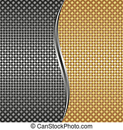 metallic background - gold silver metallic background