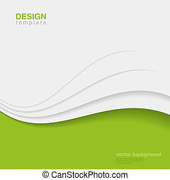Background Eco Abstract Vector. Creative ecology design -...