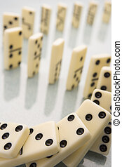 Arrangement Of Domino Pieces Collapsing