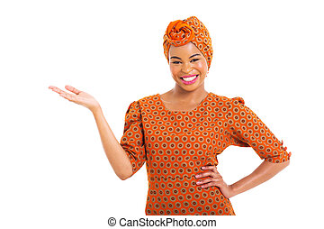 african woman presenting - pretty african woman presenting...