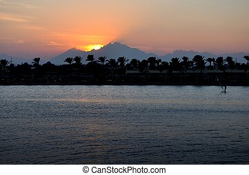 Hurgada`s Mountains At Sunset, Egypt. - Hospitable Hurgada...