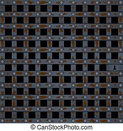 Old prison door black