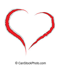 Valentine heart claws scratch - Valentine love heart claws...