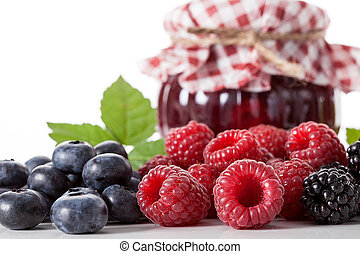 Multifruit homemade jam - Multifruit traditional homemade...
