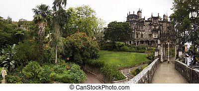 Quinta da Regaleira park, Sintra, Portugal - Panoramic view...
