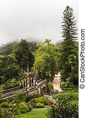 Quinta da Regaleira park, Sintra, Portugal - View of a...