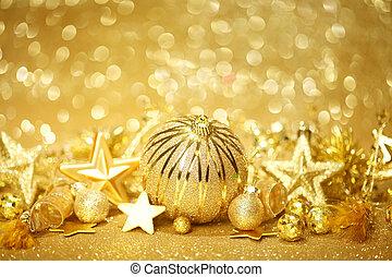 金, クリスマス, 背景