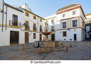 Plaza del Potro in Cordoba, Spain cited by Cervantes in Don...