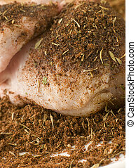 Raw Breast of Chicken with Jerk Seasoning