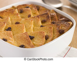 Bread and Butter Pudding in a Dish