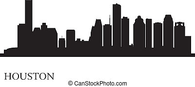 Houston city skyline silhouette background, vector...