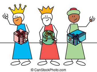 stick figure three wise men - Stick figures of the three...
