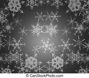 Gray Abstract Winter Background