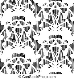 Vintage vector damask pattern with abstract hand painted...