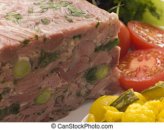 Jellied Gammon and Leek Terrine with Piccalilli
