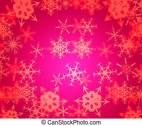 Pink Abstract Winter Background