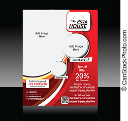 Pizza Store Flyer Vector illustration