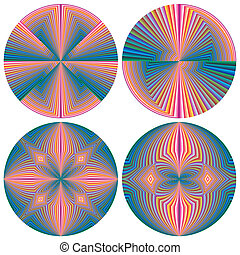 Contemporary Feng Shui pattern Set - Round objects for...