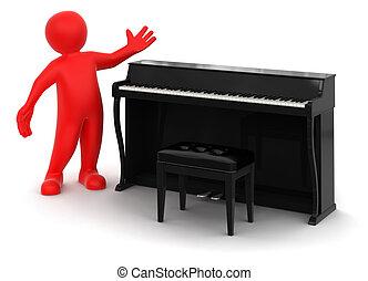 鋼琴, 人