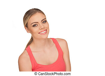 Attractive woman with a beautiful smile