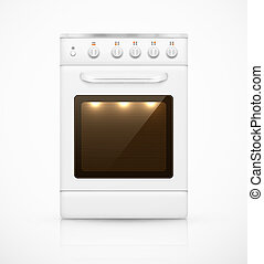 Isolated gas stove, eps 10