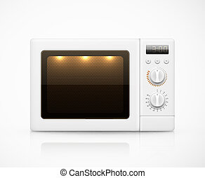Isolated microwave - Isolated white microwave, eps 10