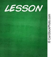Lektion,  chalkboard