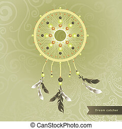 Dream catcher - Abstract vector background with dream...
