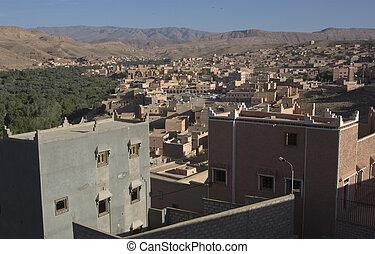 Tinerhir village near Georges Todra at Morocco - Village in...