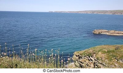 Cornish coast Port Isaac Cornwall - View from Cornish coast...