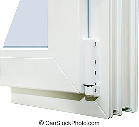 PVC profile system for windows - White PVC profile system...