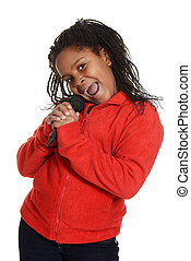 young jamaican girl singing