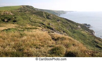 North Cornwall coast at Strangles near Crackington Haven...