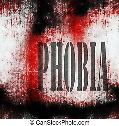 Concept phobia background
