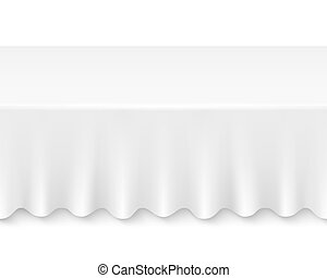tablecloth table - Blank table with seamless tablecloth...