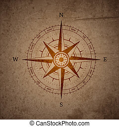 Retro navigation compass symbol vector illustration