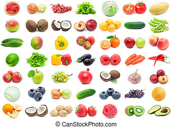Fruits and Vegetables - Collection of various fruits and...