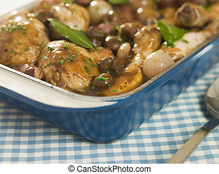 Dish of \'Coq au Vin\'