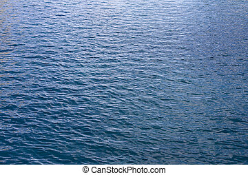 Gentle Blue Ocean Water Waves - Gentle blue waves of the...