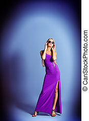 stunning - Full length portrait of a fashionable model in an...